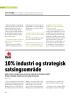 10% industri og strategisk satsingsområde