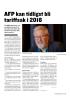 AFP kan tidligst bli tariffsak i 2018