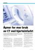 Åpner for mer bruk av CT ved hjerteinfarkt