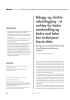 Belegg- og slimhinnekartlegging - et verktøy for bedre samhandling og bedre oral helse hos institusjonaliserte eldre