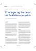 Erfaringer og barrierer sett fra klinikeres perspektiv