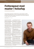 Fotterapeut med master i helsefag