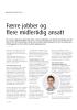 Færre jobber og flere midlertidig ansatt