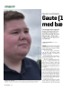 Gaute (1 8) vil jobbe med bærekraftig teknologi