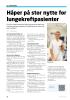 Håper på stor nytte for lungekreftpasienter