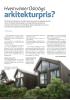 Hvem vinner Oslo bys arkitekturpris?