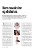 Koronavaksine og diabetes