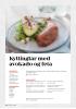 Kyllinglår med avokado og feta