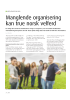 Manglende organisering kan true norsk velferd
