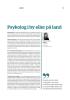 Psykolog i by eller på land