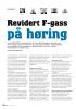Revidert F-gass på høring