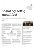 Sosial og heftig metallfest