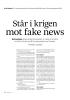Står i krigen mot fake news