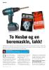 To Nesbø og en boremaskin, takk!