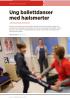 Ung ballettdanser med hælsmerter
