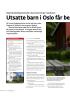 Utsatte barn i Oslo får be dre tilbud