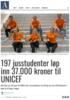 197 jusstudenter løp inn 37.000 kroner til UNICEF