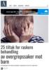 25 tiltak for raskere behandling av overgrepssaker mot barn