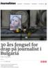 30 års fengsel for drap på journalist i Bulgaria