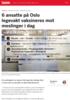 6 ansatte på Oslo legevakt vaksineres mot meslinger i dag