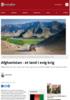 Afghanistan - et land i evig krig