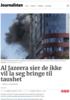 Al Jazeera sier de ikke vil la seg bringe til taushet