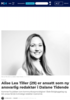 Alise Lea Tiller (29) er ansatt som ny ansvarlig redaktør i Dalane Tidende