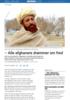- Alle afghanere drømmer om fred