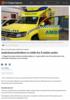 Ambulansearbeidere er redde for å smitte andre