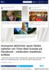 Anonyme aktivister sprer falske nyheter om Trine Skei Grande på Facebook - misbruker medienes artikler