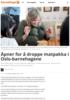 Åpner for å droppe matpakka i Oslo-barnehagene