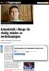 Arbeidsfolk i Norge får stadig mindre av verdiskapingen