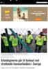 Arbeidsgiverne går til lockout mot streikende havnearbeidere i Sverige