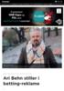 Ari Behn stiller i betting-reklame