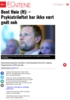Bent Høie (H): - Psykiatriløftet har ikke vært godt nok