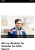 Blir ny direktør for direktør for NRK Sápmi