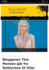 Bloggeren Tine Monsen går fra Nettavisen til Aller