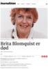 Brita Blomquist er død