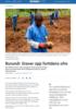 Burundi: Graver opp fortidens ofre