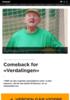 Comeback for Verdalingen