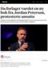 Da forlaget varslet en ny bok fra Jordan Peterson, protesterte ansatte