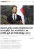Danmarks utenriksminister anmeldt for voldtekt av jente på en folkehøyskole