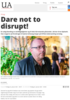 Dare not to disrupt!