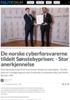 De norske cyberforsvarerne tildelt Sønstebyprisen: - Stor anerkjennelse