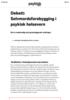 Debatt: Selvmordsforebygging i psykisk helsevern