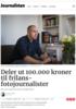 Deler ut 100.000 kroner til frilans-fotojournalister