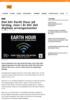 Det blir Earth Hour på lørdag, men i år blir det digitale arrangementer