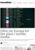 Difor tar Europa for lite plass i norske media