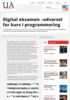Digital eksamen -advarsel for kurs i programmering