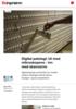Digital patologi: Ut med mikroskopene - inn med skannerne